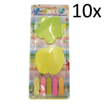10 packs SELF ADHESIVE / REMOVABLE STICK NOTES stationary writing stick on notes